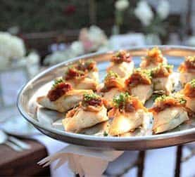 Appetizers at La Ventura San Clemente Wedding Venue